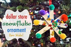 preschool tree ornament craft dollar store snowflake