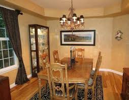 Tuscan Style Dining Room Furniture by Tuscan Style Dining Room With Wall Art And Display Cabinet With