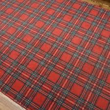 Plaid Area Rug Power Loomed Tartan Plaid Area Rug Ebth