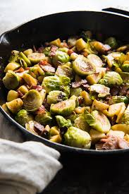 roasted brussels sprouts with bacon and apples house of nash eats