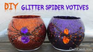 craft klatch diy glitter spider votives dollar store craft