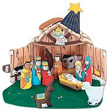 fabric nativity manger set for children by pockets of
