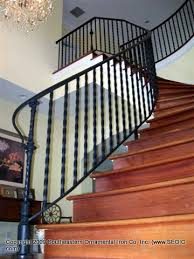 Wrought Iron And Wood Banisters Wrought Iron Stair Railing