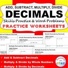 exceeding the core decimals bundle task cards error analysis