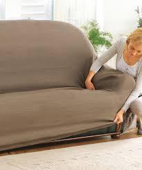 housse canapé 3 places pas cher housse extensible canapé et fauteuil muscade textile de maison