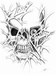 skull ripped skin tattoo sketch in 2017 real photo pictures