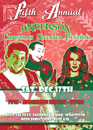 ugly holiday sweater party invitation template free features party