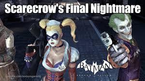 Scarecrow Batman Halloween Costume Batman Arkham Asylum Scarecrow U0027s Final Nightmare Boss Fight