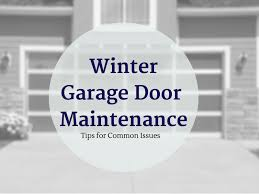 Overhead Door Maintenance Winter Garage Door Maintenance Overhead Door Co