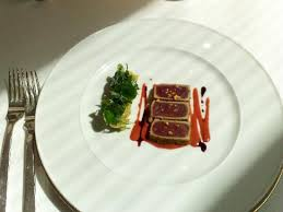cuisine facil tuna with cherry gaspacho as entree picture of facil berlin