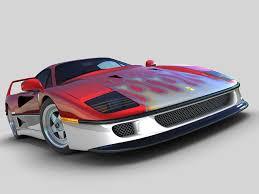 model f40 f40 3d model sport 3ds max fbx obj ar vr