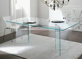 Designer Glass Dining Tables All Glass Dining Room Table Lucite And Clear Glass Dining