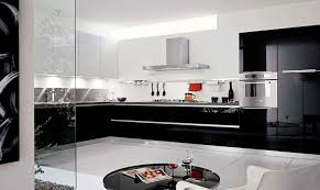 cuisine laqué noir une cuisine en noir et blanc inspiration cuisine