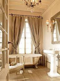 French Interior French Bathroom With Clawfoot Tub And Pedestal Sink Chic French