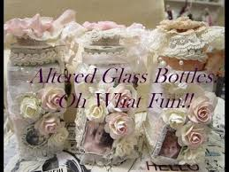 shabby chic altered glass jars small thrift store haul youtube