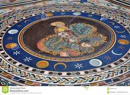 mosaic tiled floor in the vatican museums editorial photo image