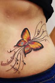 beautiful small butterfly photo tattoos with names design