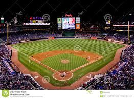 Home Plate Baseball by Mlb Atlanta Braves From Behind Home Plate Editorial Image