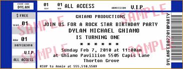 printable concert ticket templates cloudinvitation com