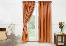 Burnt Orange Curtains Ikea Window Treatments For Sliding Glass Doors