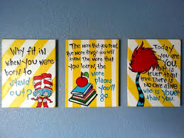 Dr Seuss Kids Room by Dr Seuss Wall Art For Children U0027s Room By Paintedbylinda On Etsy