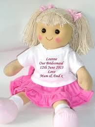 flower girl doll gift personalised doll flower girl bridesmaid wedding favour gift