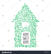 home sweet home decoration home sweet home hand drawn poster stock vector 561072922