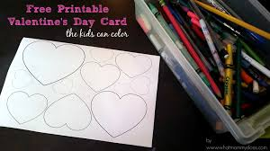 free printable valentine u0027s card color heart pattern