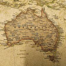 Vintage World Map by Vintage World Map Poster On Canvas Detailed Center Australia