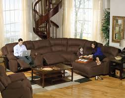 Big Sectional Couch Brown Velvet Couches With Six Seat Completed With Folding Foot