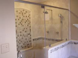 bathroom great doorless shower designs with house