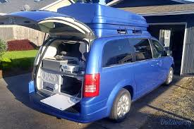 Pop Up Kitchen Tent by 2010 Chrysler Town U0026 Country Camping Van Motor Home Class B Rental