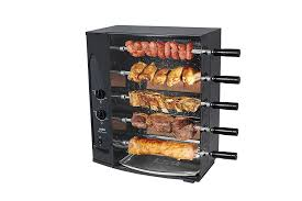 amazon com 5 skewer rotisserie gas barbecue grill by arke