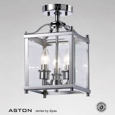 Ceiling Lantern Lights Il31100 Aston Semi Flush Ceiling Light Traditional Style 3 Light