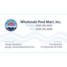 wholesale pool mart business card design by arpidesign glendale ca