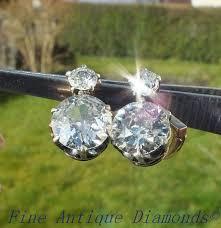 original diamond drop antique diamond earrings e drury antique diamonds cut