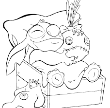 free lilo and stitch coloring page printables pinterest
