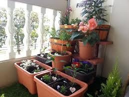 beautiful balcony lawn garden dazzling balcony herb ideas with round red plus