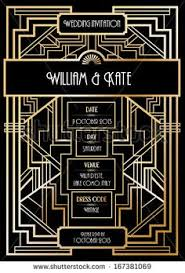 art deco gatsby party invitation design template available on
