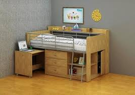 Cabin Bed Frame The Keavy Midi Cabin Bed Frame Is Constructed In Melamine With A