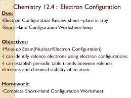 Electron Configuration Worksheet Answer Key Periodic Table Objectives Periodic Table Objectives Objectives I