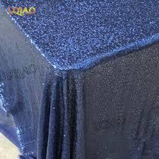 90 x 156 table 90x156 inch rectangular navy blue sequin tablecloth wedding