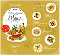 element cuisine discount pasta menu card template for cuisine restaurant vector