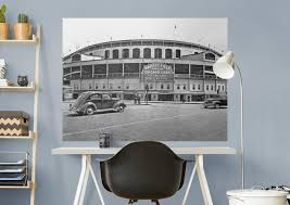 chicago cubs wrigley field historic mural wall decal shop chicago cubs wrigley field historic fathead wall mural
