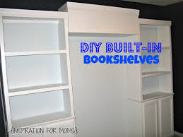 build your own built in bookshelves inspiration for moms
