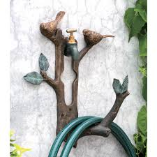 bird and branch hose holder primitive home decors