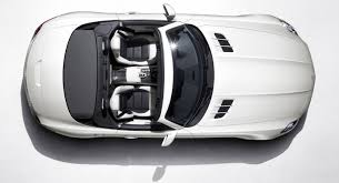 vehicle top view 2012 white mercedes benz sls amg roadster top view eurocar news