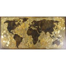 World Map On Wood Planks by Shop Wall Art At Lowes Com