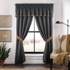 Bed Bath And Beyond Window Valances Buy Blue Brown Valance From Bed Bath U0026 Beyond