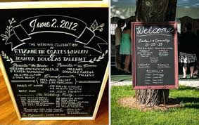 chalkboard wedding program wedding chalkboard program ways to use a chalkboard at your